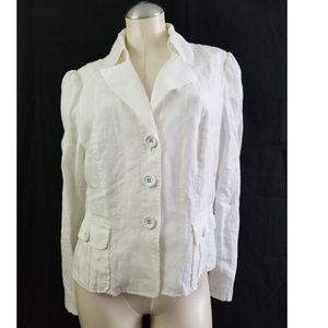 INC International Concepts Size L Linen Blazer